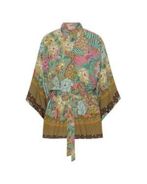 Loretta Kimono shirt, Botanic print