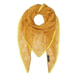 MANIA Oversize scarf lace soft Yellow