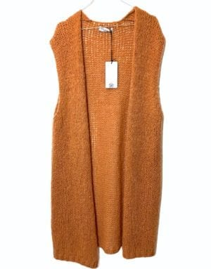 Tulle knitvest soft orange, onesize