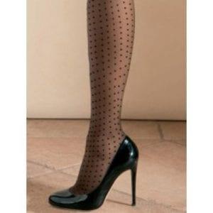 Oroblu Adelle polka-dot black tights 20