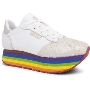 Allison Sneakers plateau white Rainbow