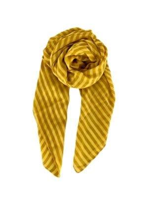 Tørklæde Stripe mustard