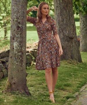 Maria flower dress Orange