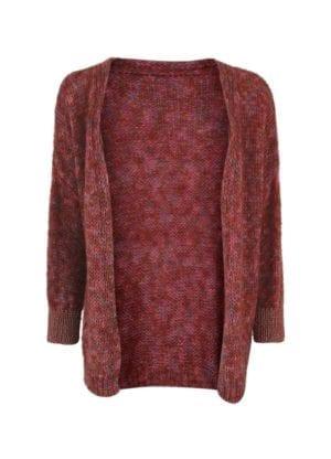 Julia knit cardigan Pink melange
