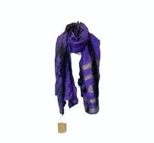 Vintage sarisilk Oversize scarf/sarong 10 lilla batik