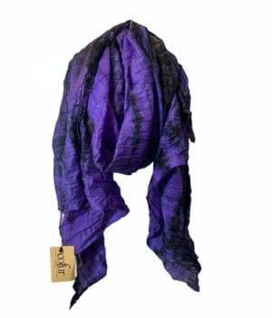 Vintage sarisilk Oversize scarf/sarong 12 Purple dipdye