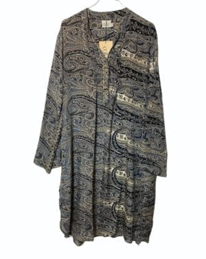 Vintage sarisilk City shirtdress grey M/L