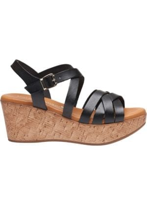 Marga sandal wedges Black