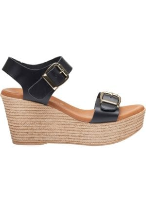 Susanne sandal wedges Black