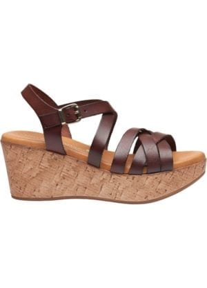 Marga sandal wedges Marron