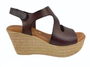Masha sandal wedges Marron