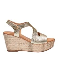 Masha sandal wedges Platino Gold