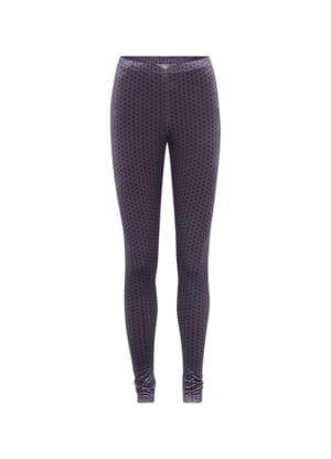 Maddie Velour leggings lavender dots