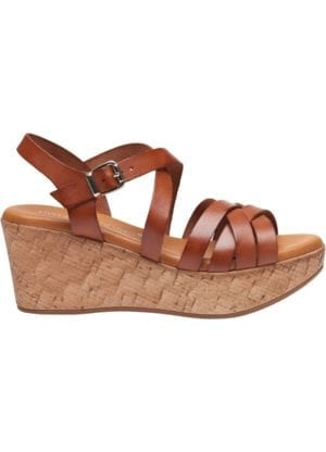 Marga sandal wedges Cognac