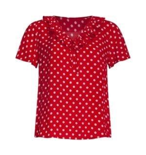 Blouse Red polka dots 21038