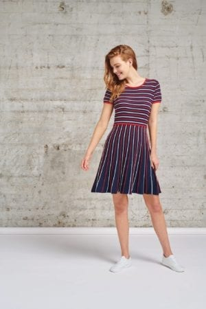 Dress Knit Navy Vintage Stripe 21258