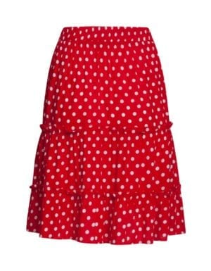 Skirt Red polka dots 21037
