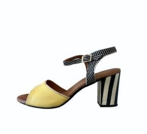 Frida Sandals black/yellow Combi