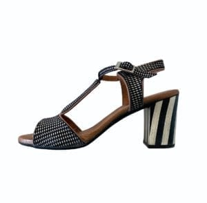 Frida Sandals black/White Combi