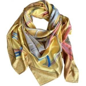 Big Silk scarf yellow