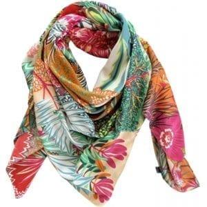 Big Silk scarf multi