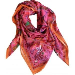 Big Silk scarf Pink