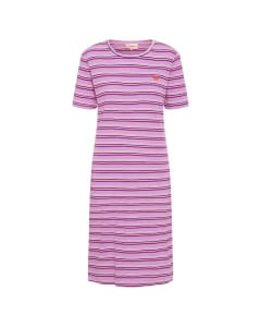 Filipa T-dress lavender stripe