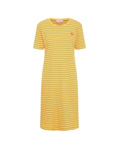 Filipa T-dress yellow stripe