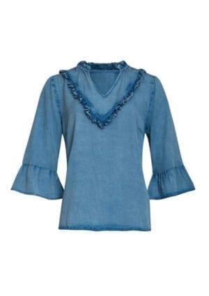 Viola blouse Denim blue