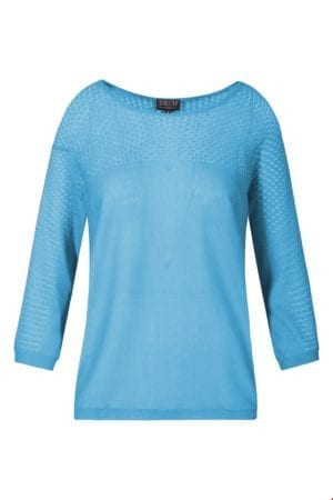 Knit Blouse Bat sleeve Sky blue