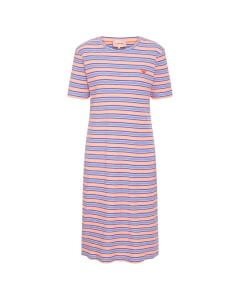 Filipa T-dress blue stripe