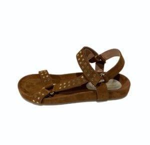Sweat Sandal Cognac Suede