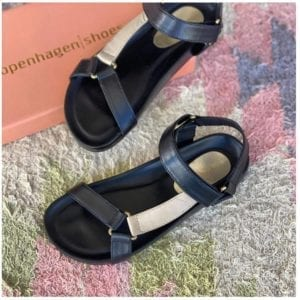 Peace sandal Multi Black