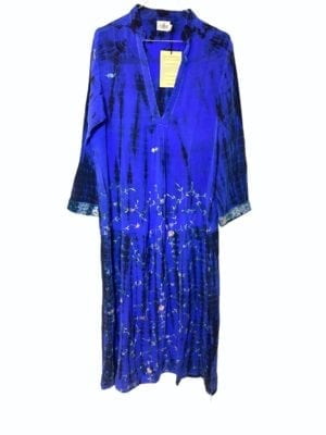 Vintage sarisilk Goa maxidress Purple S/M