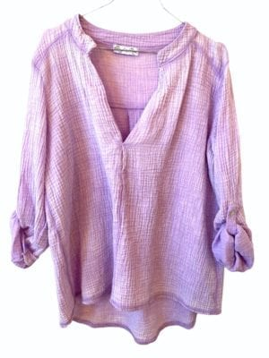 Sally cotton blouse, onesize Lavender