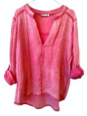 Sally cotton blouse, onesize Pink