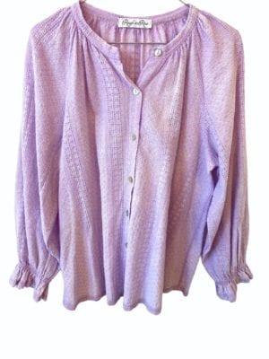 Sandy cotton blouse, onesize Lavender
