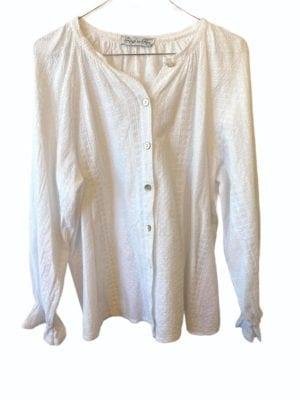 Sandy cotton blouse, onesize White