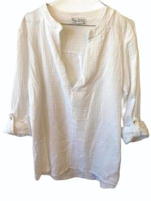 Sally cotton blouse, onesize White