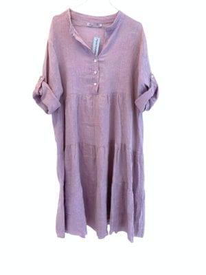 Rose dress linen Lavender