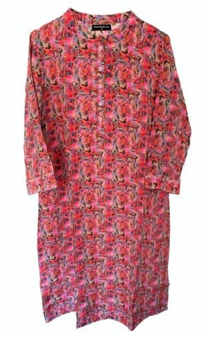 Jennifer dress silk Paisley pink