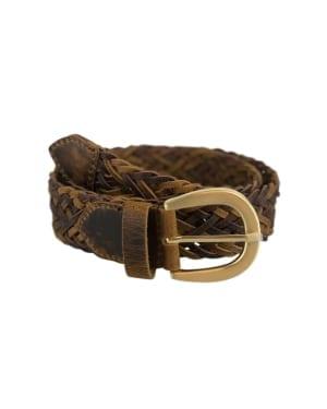 Coach braided belt Tan