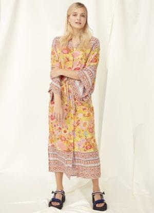 Clarissa Kimono dress,Golden