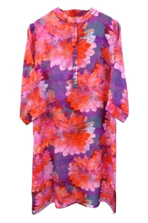 Jennifer dress silk Peonies