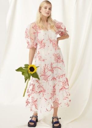 Luane see-trough dress