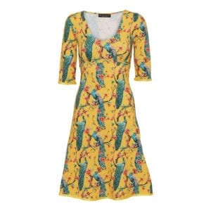 Stella Dress Peacock Yellow