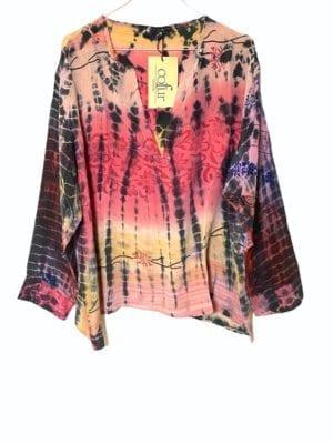 Copenhagen shirt sarisilk XL pink dipdye