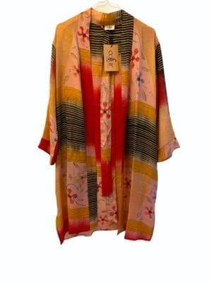 Vintage sarisilk short kimono Oriental onesize