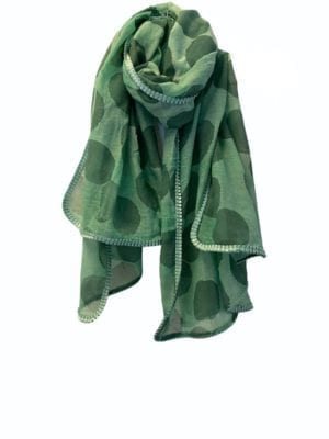 Tørklæde oversize Mega dots Mint