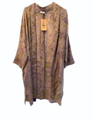 Vintage sarisilk short kimono Lavender onesize
